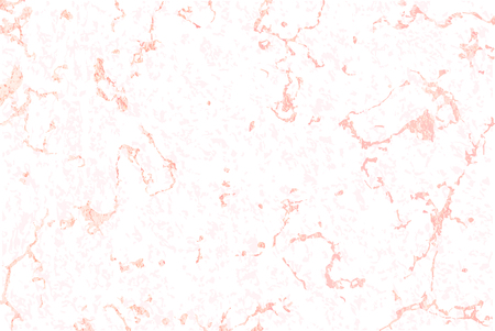 Vector pattern. White marble texture with rose gold. Holiday background. Trendy template for design, party, invitation, web, banner, birthday, wedding card