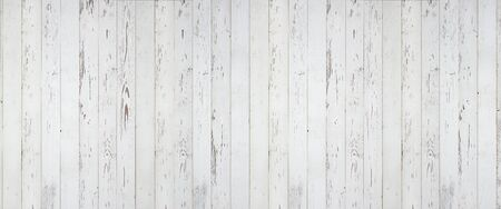 White painted wooden panorama. Vertical wooden planks.