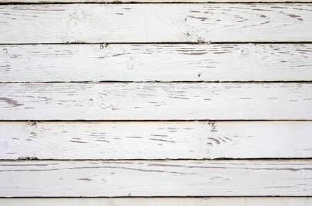 White wooden planks texture. Shabby chic background.