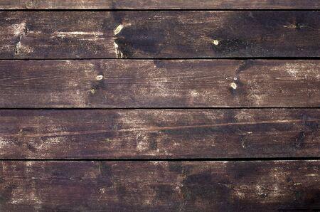 Brown wood texture. Dark wooden planks.