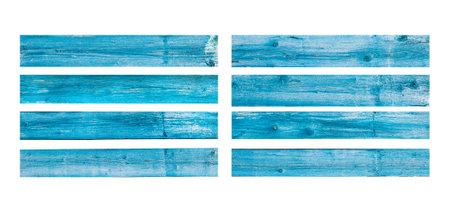 Wooden planks texture on white Standard-Bild