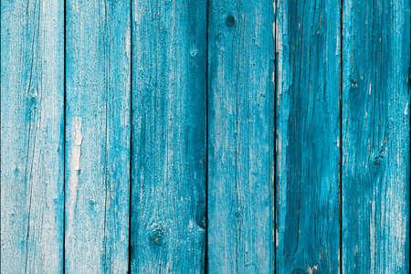 Wooden blue painted board. Vintage beach wood backdrop.