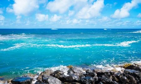 Beautiful Pacific Oceans landscape in Hawaii, Kauai Stock Photo