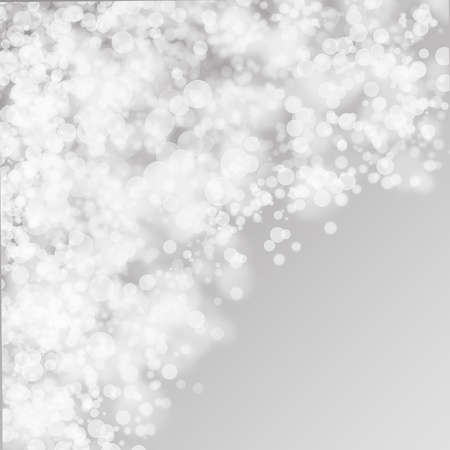 White bokeh on the grey abstract phone