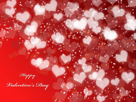 Abstract Valentine's day background with hearts 免版税图像 - 22176223