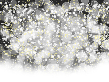 shiny black: Abstract holidays background with bokeh and stars