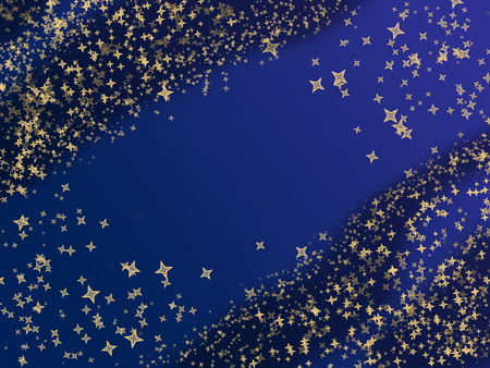 Abstract Christmas background with frame from bokeh and stars Stock Photo - 22247890