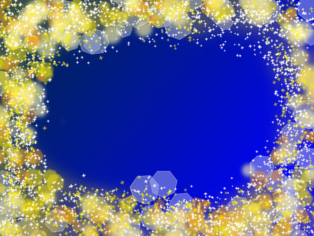 Abstract Christmas background with frame from bokeh and stars Stock Photo - 22247898