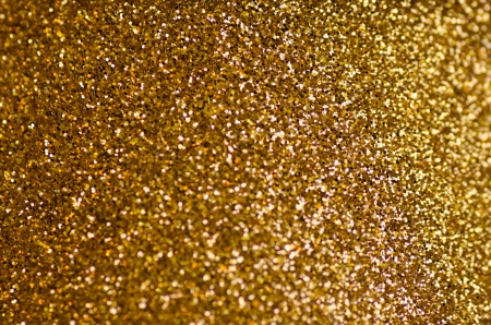 Christmas golden glitter texture with selective focus Stock Photo