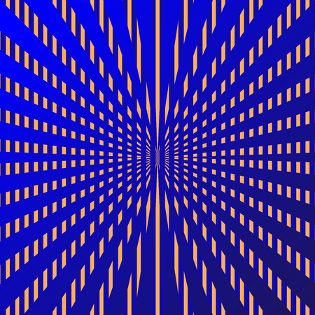 Abstract blue and golden rays background