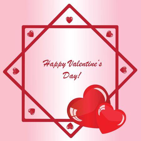 발렌타인의 배경 장식 및 분홍색 전화에 많은 마음