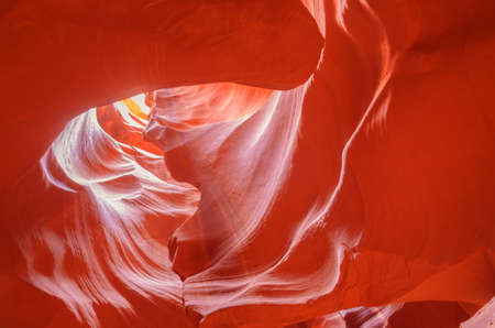 Heart Silhouette in Upper Antelope Canyon in Arizona, Page, November