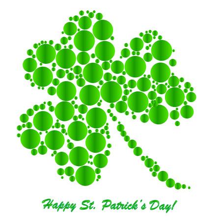 Klavers achtergrond voor Happy St. Patrick's Day - concept vakantie's