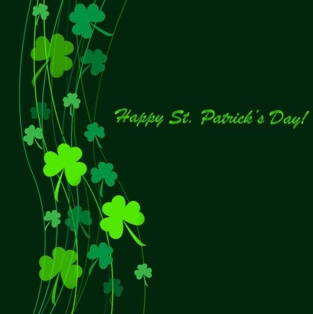 holiday celebrations: Clovers background for Happy St. Patricks Day - holidays concept