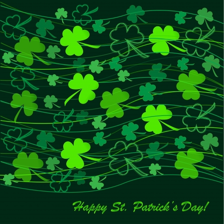 Clovers background for Happy St. Patricks Day - holidays concept
