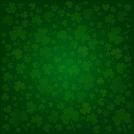Clovers background for Happy St. Patrick's Day - holiday's concept