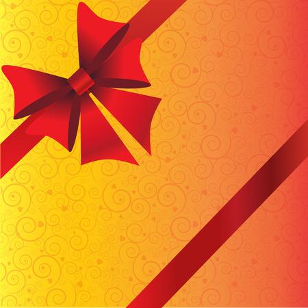 Holidays background with red ribbon and bow Zdjęcie Seryjne