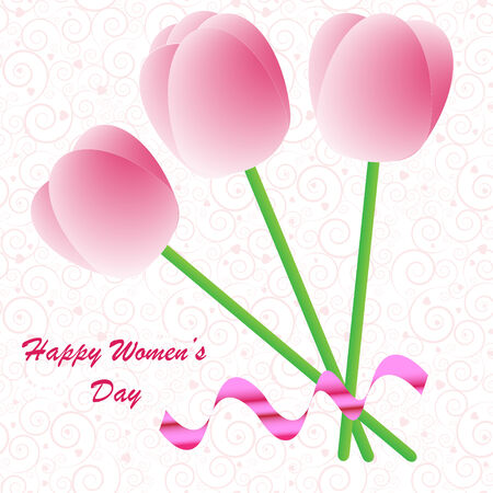 Happy Womens Day background on the white phone