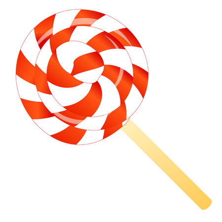peppermint lollipop isolated on the white phone
