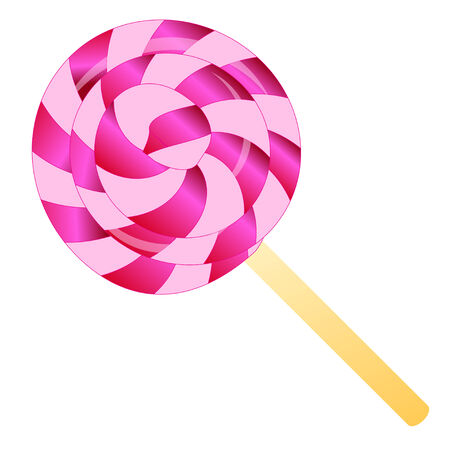 color lollipop isolated on the white phone