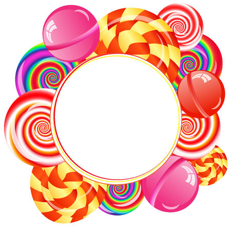 lollypop: Abstract background with many lollipops on the white phone