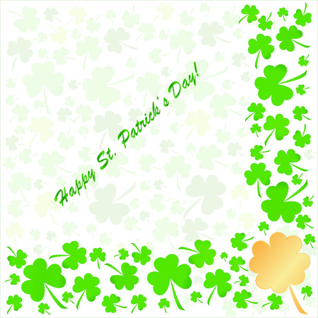 irish culture: Clovers background for Happy St. Patricks Day - holidays concept