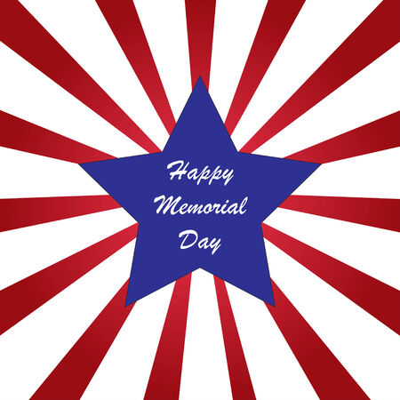 memorial day: Memorial day with American flag colors Illustration