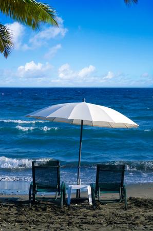 limassol: Beach Umbrellas and Chairs in Limassol, Cyprus