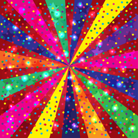 selebration: Colorful Holidays Background with light and rays