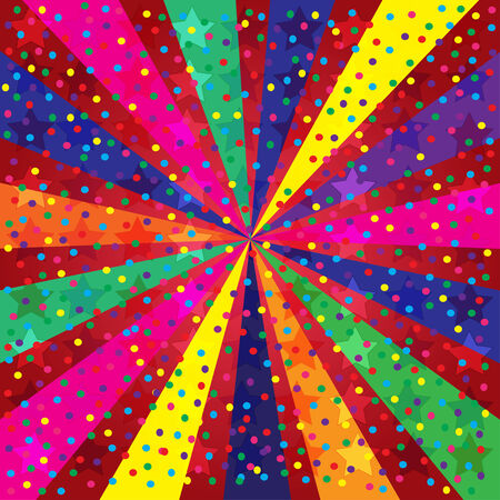 selebration: Colorful Holidays Background with stars and rays