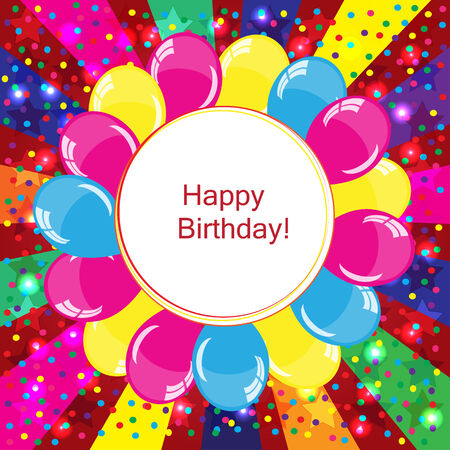 selebration: Colorful Happy Birthday background with balloons