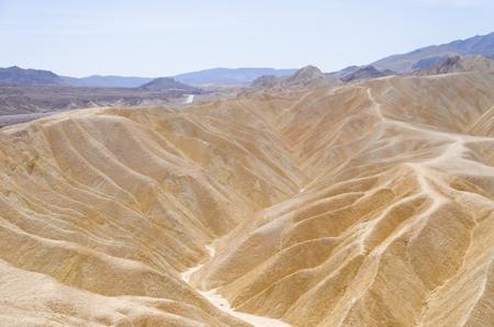 death valley: Zabriskie Point in Death Valley National Park, California, USA Stock Photo