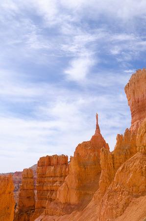hoodoo: Red hoodoo rocks in Bryce Canyon National park, Utah, USA