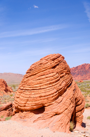 Red rocks in Valley of fire State park in Nevada Stock Photo