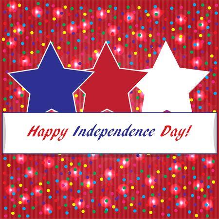 encendedores: Fondo feliz día de la independencia de Estados Unidos, colores de la bandera americana, cuadrado, formato de Instagram