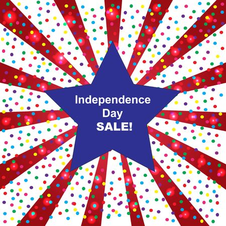 Independence day sale background (American flag colors)