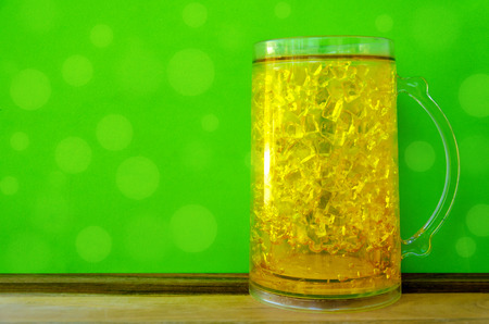 St. Patricks day background with light beer