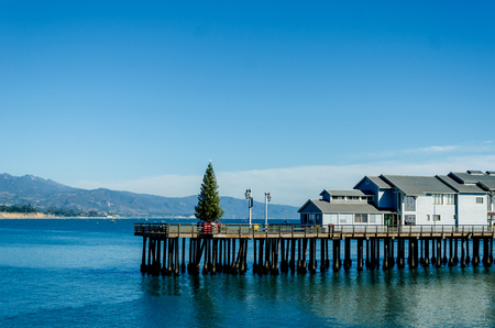 Santa Barbara pier view , California