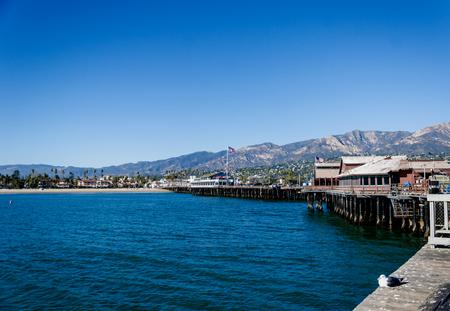 Santa Barbara pier view in sunny day, California