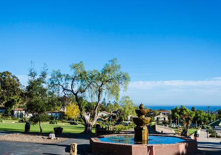 Santa Barbara Mission ocean view, California, USA