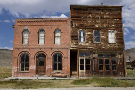 bank western: Bodie ghost town Stock Photo