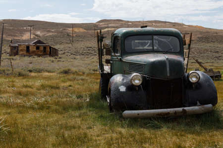 abandoned car: Abandoned car in Bodie ghost town Stock Photo