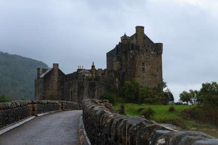 highlander: Castillo de Eilean Donan Editorial