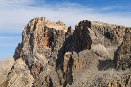 refuge: A detail of italian dolomites, near San Martino di Castrozza Stock Photo