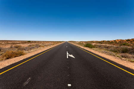open road: A view from South Africa, along the road to Namibia Stock Photo