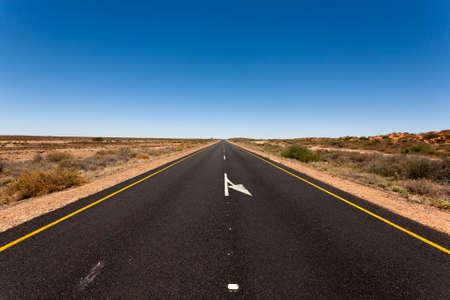cielos abiertos: Una vista de Sud�frica, por el camino de Namibia Foto de archivo