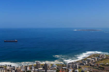 robben island: A view of Robben Island Cape Town Stock Photo