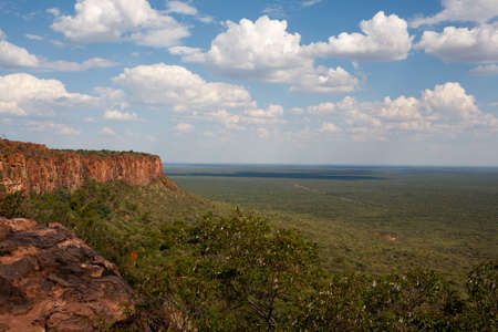 Panorama from Waterberg National Park, Namibia Foto de archivo