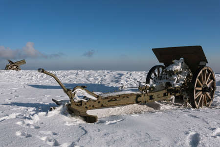 grappa: Cannons from Monte Grappa first world war memorial, Italy Editorial