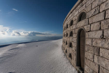 grappa: A view from Monte grappa first world war memorial, Italy Editorial